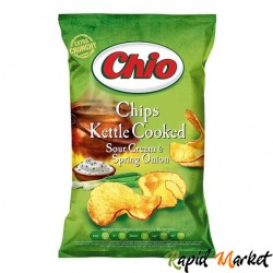 CHIO CHIPS Kettle Cooked Smantana Si Ceapa Verde 80g