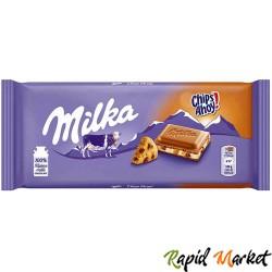 MILKA Ciocolata Chips Ahoy 100g