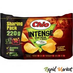CHIO CHIPS Intense Smantana si Patrunjel 220 G