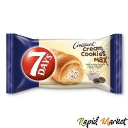 7DAYS Cream&Cookies Vanilie si lapte cu bucati de biscuiti 80G